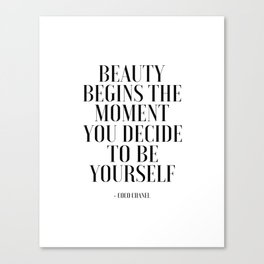 Girls Quote Beauty Begins Fashion Wall Art FASHIONISTA Poster Home Decor Quote Canvas Print