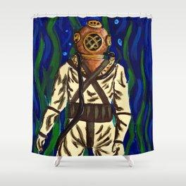 Diving Suit Shower Curtain