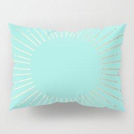 Simply Sunburst in Tropical Sea Blue Pillow Sham