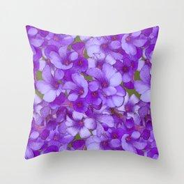 Purple Oxalis Throw Pillow