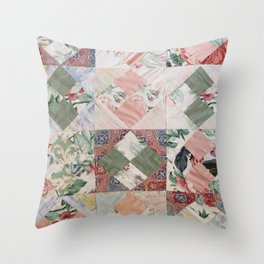 #02#Fabric in pieces pattern Throw Pillow