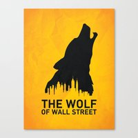 wolf of wall street Canvas Prints featuring The Wolf of Wall Street by Nick Kemp