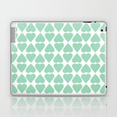 Diamond Hearts Repeat Mint Laptop & iPad Skin
