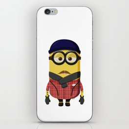 Hipster Minion iPhone Skin