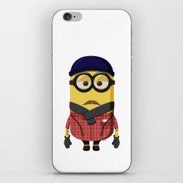 Hipster Minion iPhone Skin