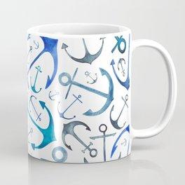 Nautical Watercolour Anchors Coffee Mug