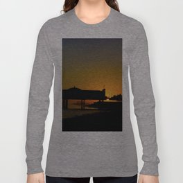 September Sunset at Brighton Pier Long Sleeve T-shirt
