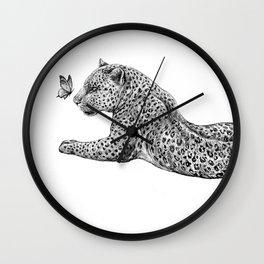 Leopard & Butterfly  Wall Clock