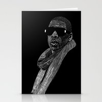 jay z Stationery Cards featuring Jay-Z by William