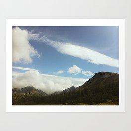 Flat Top Mountain, Anchorage AK Art Print