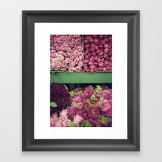 Flower Market Colorblock Framed Art Print