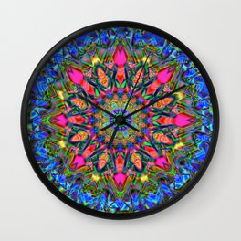Abstract Flower AAA QQ Y Wall Clock
