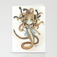 magic the gathering Stationery Cards featuring Snake Token - Magic the Gathering - Pharika by Deadlance