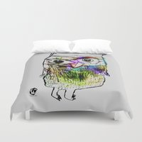 alone Duvet Covers featuring Alone by Organic Mind