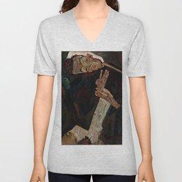 "Egon Schiele ""The Lyricist"" Unisex V-Neck"