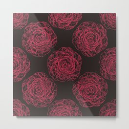 Pattern with roses Metal Print