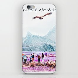 In Awe and Wonder I look upon the World iPhone Skin