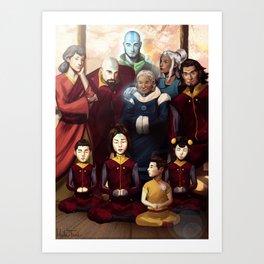 Aang and Katara's Legacy Art Print