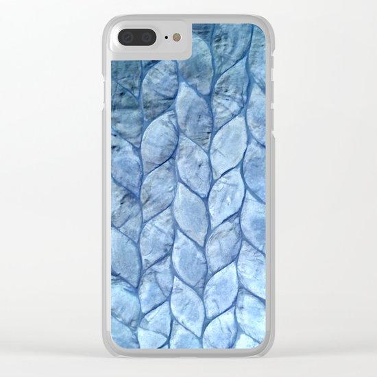 Ocean Blue Shell Clear iPhone Case