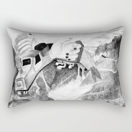 Handscape Takes Flight Rectangular Pillow