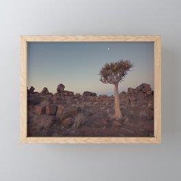 Desert Quiver Tree at dusk - Landscape photography #Society6 Framed Mini Art Print