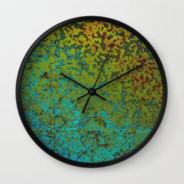 Colorful Corroded Background G292 Wall Clock