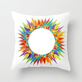 Explosion of Blooming Spring Colors Throw Pillow