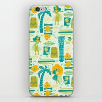 mid century iPhone & iPod Skins featuring Mid-Century Tiki by Aimee Steinberger