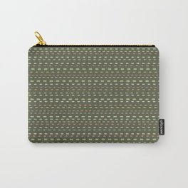 Stripes 001 on Olive Green Carry-All Pouch