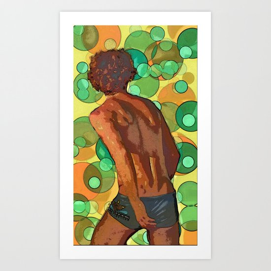 Vollyball player imagined Art Print