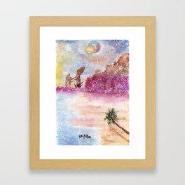 A New World Watercolor Art Illustration Framed Art Print