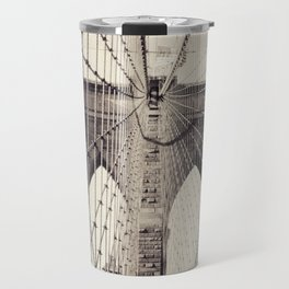 Brooklyn bridge, New York city, black & white photography, wall decoration, home decor, nyc fine art Travel Mug