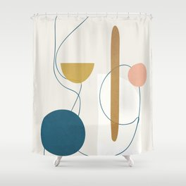 Free Abstract Shapes II Shower Curtain