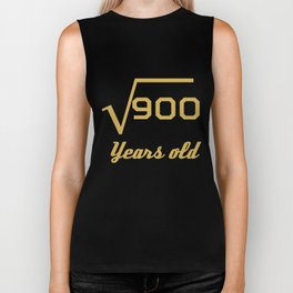 Square Root Of 900 Funny 30 Years Old 30th Birthday Biker Tank