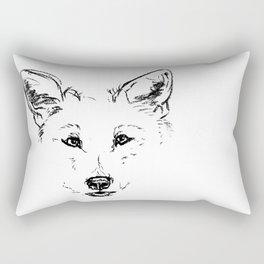 Grey Wolf Rectangular Pillow