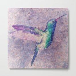 abstract hummingbird Metal Print