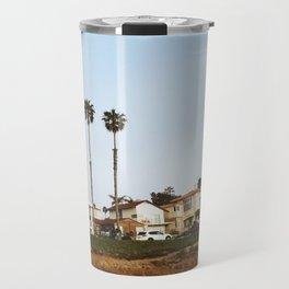 California Beach Sunset Travel Mug