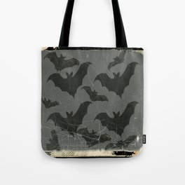 ANTIQUE  SHABBY CHIC  BATS ART DESIGN Tote Bag