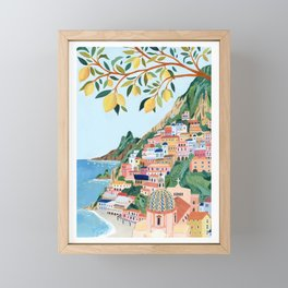 Positano, Italy Framed Mini Art Print