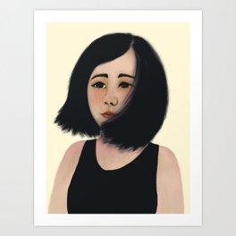 Asian Lady Art Print