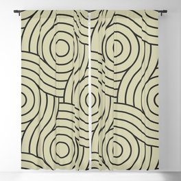 Circle Swirl Pattern Valspar America Natural Olive Green - Martinique Dawn - Asian Silk Blackout Curtain