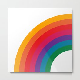 Retro Bright Rainbow - Left Side Metal Print
