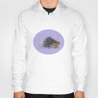 lavender Hoodies featuring Lavender by Fran Walding