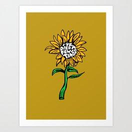 Death Sunflower Art Print