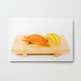 Salmon Sushi Metal Print