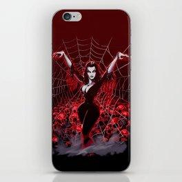 Web of Vampira iPhone Skin