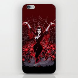 Web of Vampira iPhone Skin