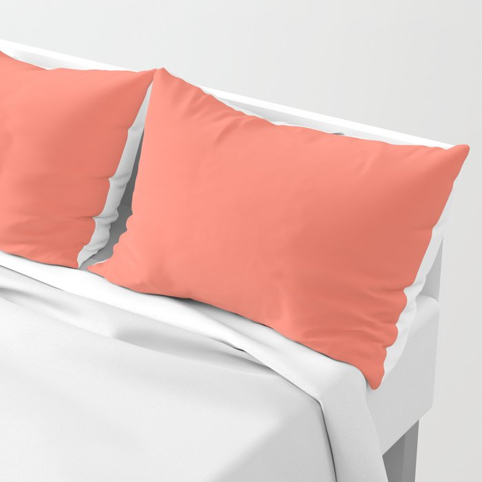 Coral Solid Color Pillow Sham