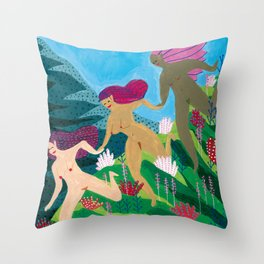 three graces Throw Pillow