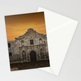 The Alamo Mission in San Antonio Texas with the Lonestar Flag Flying No.0256 A Fine Art Historical P Stationery Cards